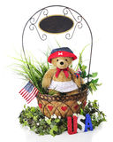 Independence Day Basket Royalty Free Stock Photo
