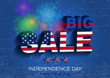 Independence_day2. Independence day. Big Sale Vector Illustration. July fourth Royalty Free Stock Photography