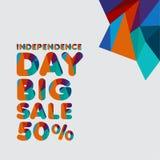Independence Day Big Sale 50% Vector Template Design Illustration vector illustration