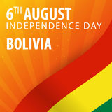 Independence day of Bolivia. Flag and Patriotic Banner. Vector illustration. Stock Photography