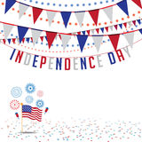Independence Day bunting background EPS 10. Independence Day bunting background. EPS 10 vector Royalty free stock illustration for ad, promotion, poster, flier Stock Photo