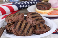 Independence Day Burgers Royalty Free Stock Photography