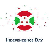 Independence day of Burundi. Patriotic Banner. Vector illustration. Stock Images