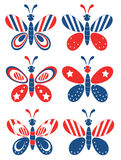 Independence day,butterflies Stock Photos