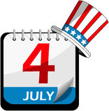 Independence Day Calendar Royalty Free Stock Images