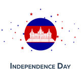 Independence day of Cambodia. Patriotic Banner. Vector illustration. stock illustration