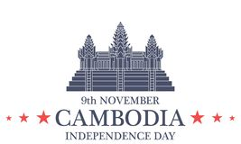 Independence Day. Cambodia Royalty Free Stock Photo