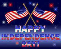 Independence Day card. Royalty Free Stock Photos