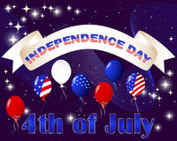 Independence Day card. Royalty Free Stock Photography
