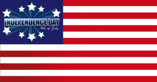Independence Day card or background Royalty Free Stock Photography