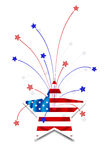 Independence Day card. Or background. July 4 Vector Illustration