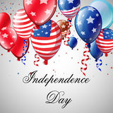 Independence Day Card. Independence day - cartoon vector background Royalty Free Stock Image