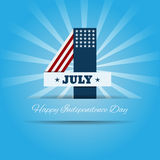 Independence day card july 4  eps 10 Stock Image