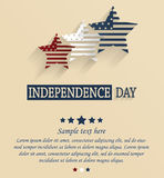 Independence Day card with space for your text. 4th Of July. Red, white and blue stars. Vector illustration Royalty Free Stock Images