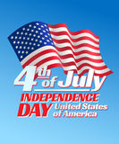 Independence day card Stock Image