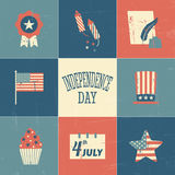 Independence Day Cards Collection Royalty Free Stock Photos