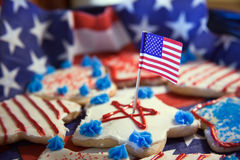 Independence Day Ccookies Royalty Free Stock Images
