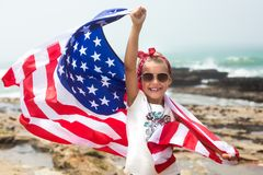 Independence day celebration with american flag Royalty Free Stock Image