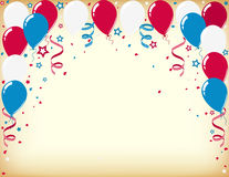 Independence day celebration card with balloons. Vector of celebration card with colorful royalty free illustration