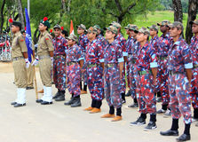 Independence Day celebration security forces stock image