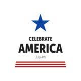 Independence Day Celebration. USA Independence Day Celebration Icon Stock Photo