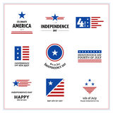 Independence Day Celebration. USA Independence Day Vector Icon Set Stock Photos