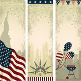 Independence Day celebration vertical banners Stock Photo
