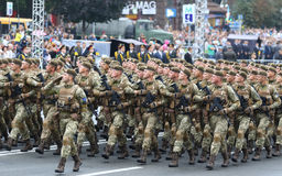 Independence Day celebrations in Kyiv, Ukraine Royalty Free Stock Photo