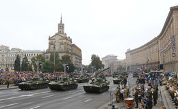 Independence Day celebrations in Kyiv, Ukraine Stock Photos