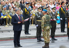 Independence Day celebrations in Kyiv, Ukraine Stock Photo