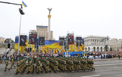 Independence Day celebrations in Kyiv, Ukraine Stock Images