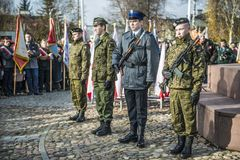 Independence Day Celebrations in Poland. Siedlce, POLAND 11 NOVEMBER, Polish Independence Day Celebrations on 11 November 2013 in Siedlce, Poalnd stock images
