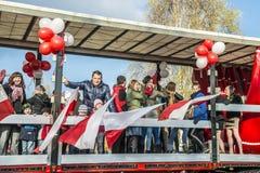 Independence Day Celebrations in Poland. Siedlce, POLAND 11 NOVEMBER, Polish Independence Day Parade on 11 November 2013 in Siedlce, Poalnd stock images