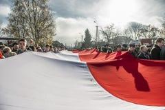 Independence Day Celebrations in Poland. Siedlce, POLAND 11 NOVEMBER, Polish Independence Day Parade on 11 November 2013 in Siedlce, Poalnd stock photo