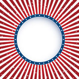 Independence day circle background Royalty Free Stock Images