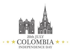 Independence Day. Colombia Stock Images