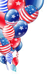 Independence Day colored balloons. Party balloons Independence Day colored Stock Images