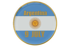 Independence Day concept Argentina Stock Images