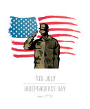Independence day concept vector Stock Photography