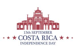 Independence Day. Costa Rica Royalty Free Stock Photo