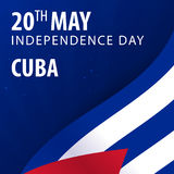 Independence day of Cuba. Flag and Patriotic Banner. Stock Image