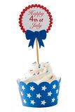 Independence day cupcake Royalty Free Stock Image