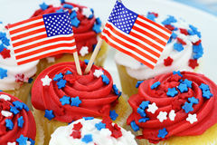 Free Independence Day Cupcakes Stock Photography - 25103512