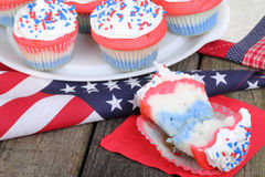 Independence Day Cupcakes Royalty Free Stock Photos