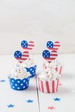 Independence day cupcakes Stock Photography