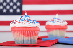 Independence Day Cupcakes Stock Photos