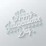 Independence day cut paper lettering background Stock Image