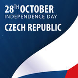 Independence day of Czech Republic. Flag and Patriotic Banner. Independence day of Czech Republic. Flag and Patriotic Banner Stock Photography