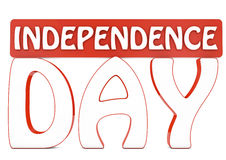 Independence day 3d text Royalty Free Stock Image