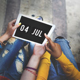 Independence Day Date Technology Graphic Concept Royalty Free Stock Photo